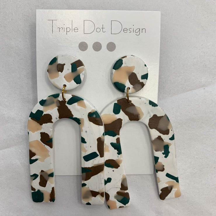 Triple Dot Design Jewelry Triple Dot Design | Green & Tan Arch