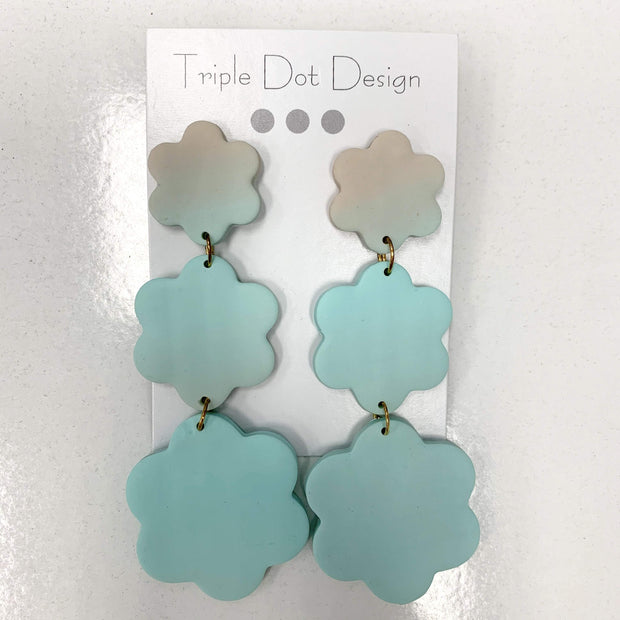 Triple Dot Design Jewelry Triple Dot Design | Seafoam Gradient Flower