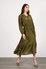 Tucker Apparel Tucker | Juliette Dress in Olive Dot