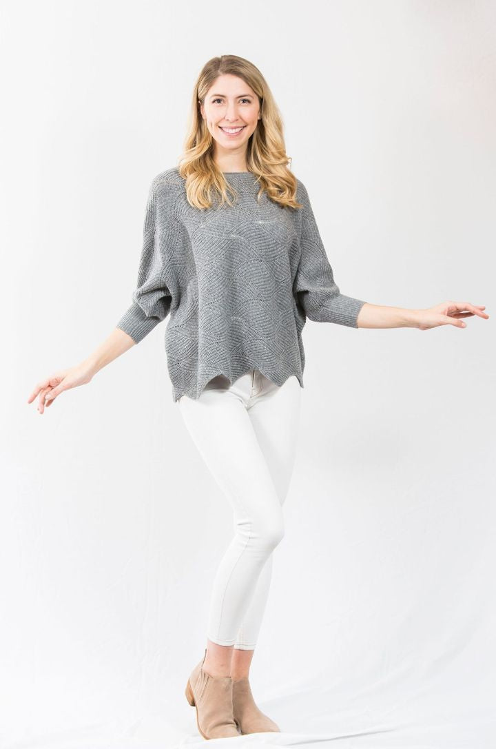 Two Bees Cashmere Apparel Small Two Bees Cashmere | Bennett Batwing in Flannel