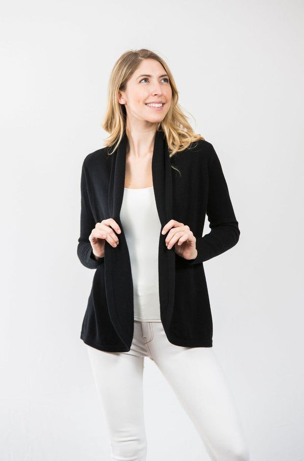 Two Bees Cashmere Apparel Two Bees Cashmere | Shawl Cardigan in Black