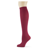 Cranberry Solid Knee Highs