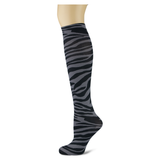 Bengal Tiger on Smoke Knee Highs