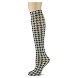 Houndstooth on Fossil Adult Knee Highs