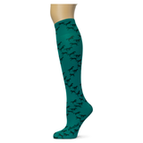Little Black Horses on Teal Knee Highs