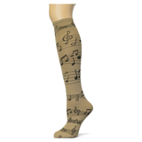 Musica on Taupe Knee Highs