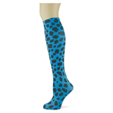One oh One Spots on Turquoise Adult Knee Highs