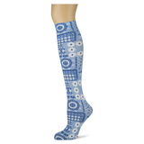 Patchwork Bandana Knee Highs