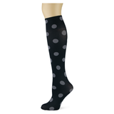 Polka Dot on Smoke Knee Highs