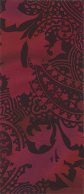 Paisley Potion On Cranberry Adult Knee Highs