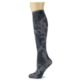 Paisley Perfection on Smoke Knee Highs