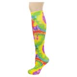 Rainbow Tie Dye Tweener Knee Highs