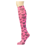 Zebra Hearts on Azalea Knee Highs