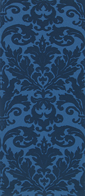 Blue Damask on Cadet Knee Highs