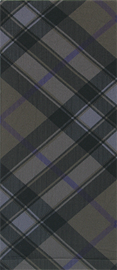 Bias Plaid  on Smoke Knee Highs