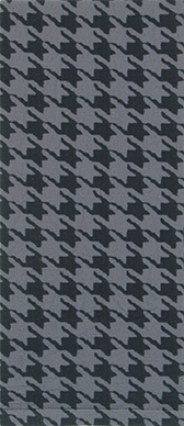 Houndstooth on Smoke Knee Highs