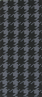 Houndstooth Extra on Smoke Knee Highs