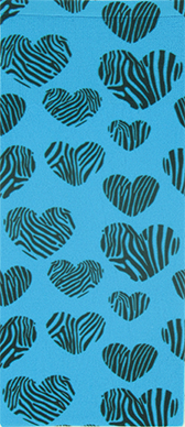 Zebra Hearts on Turquoise Knee Highs