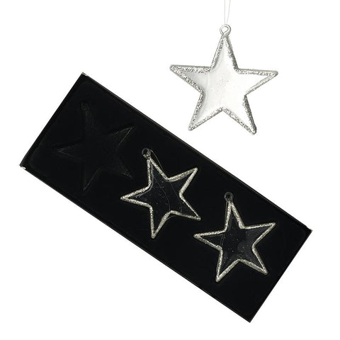 Hanging Glass Stars Set Of 3