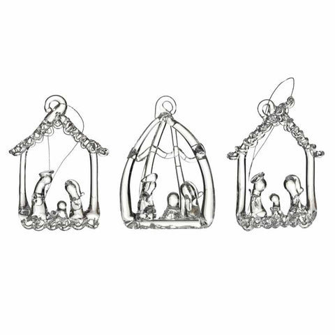 Glass Nativity Set 3