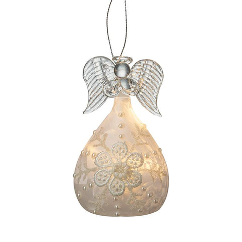 Glass Light Up Praying Angel