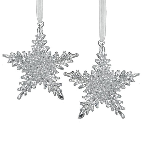 Hanging Glass Snowflake Set