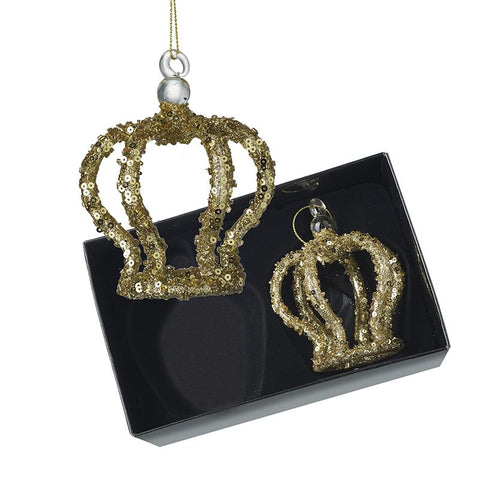 Hanging Glass Crown Set