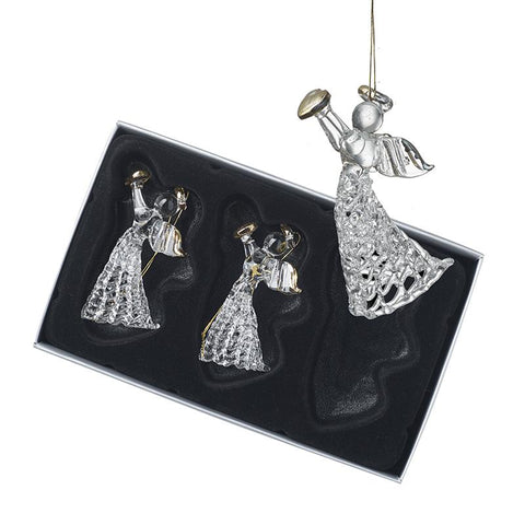 Hanging Glass Angel Set