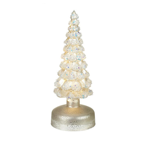 Glass Light Up Christmas Tree