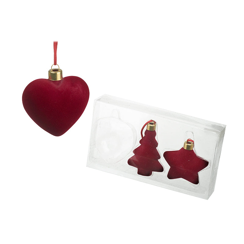 Red Velvet Tree Decoration Set