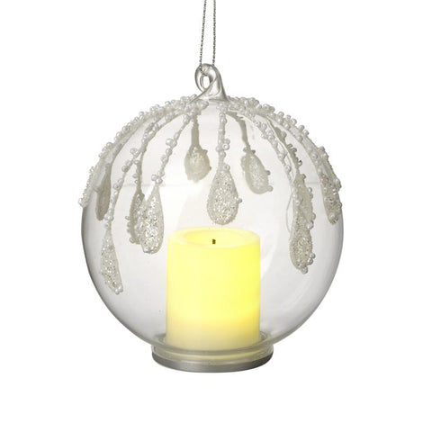 Glass Decorated Bauble T-Light