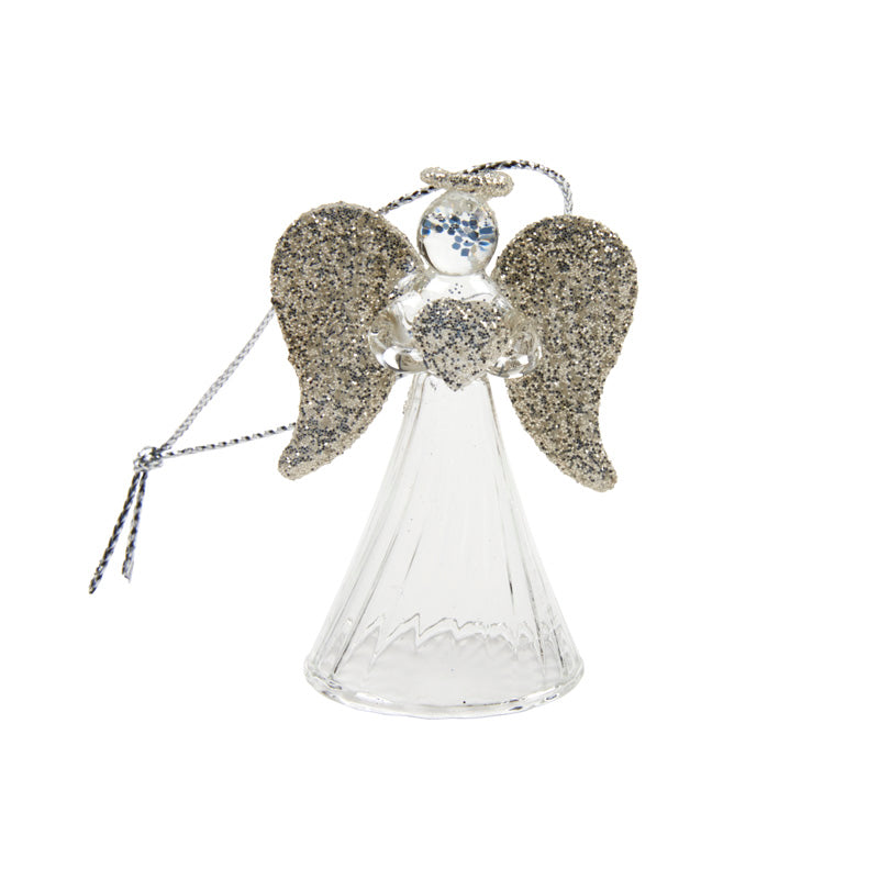 Hanging Glass Angel With Heart