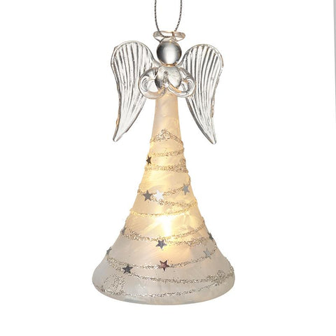 Glass Hanging Light Up Angel