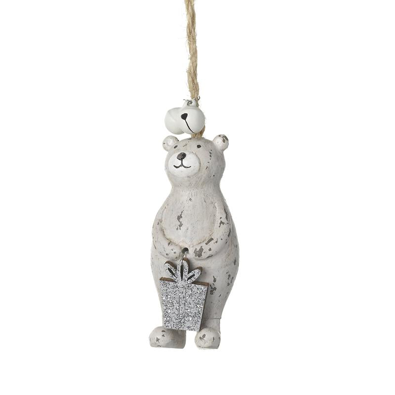 Bear Holding Gift With Bells