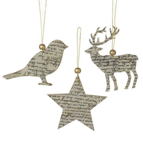 Hanging Bird/Star/Deer Mix