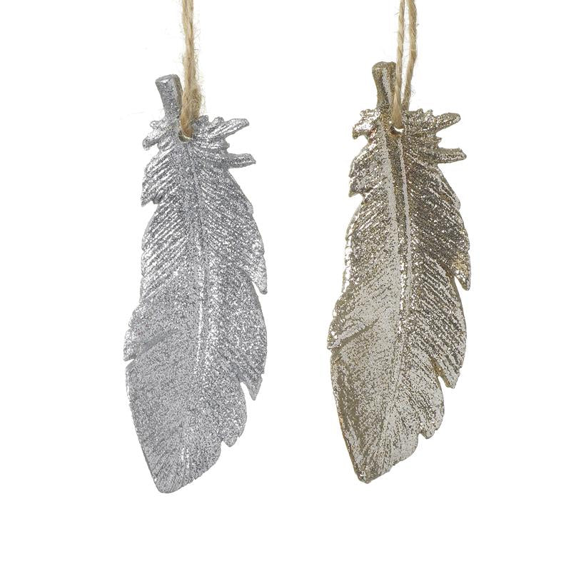 Champagne Gold And Silver Resin Feathers