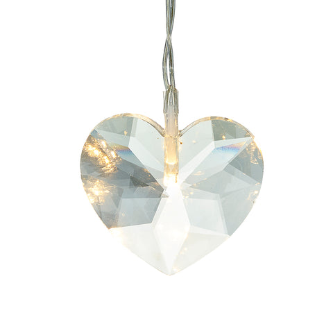 Light up Crystal Heart Hanging Decoration
