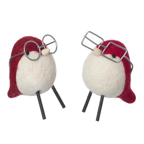 Woolen Robins In Glasses Mix
