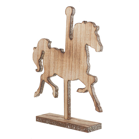 Standing Wooden Carousel Horse Decoration