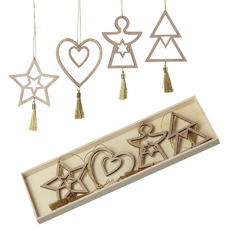 Cut Out Xmas Tree Hanging Decs Set