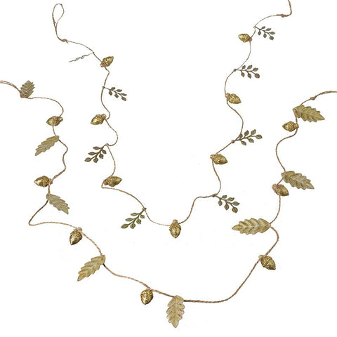 Metal Leafy Gold Garlands Mix