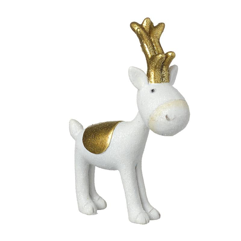 White Reindeer With Gold Antlers