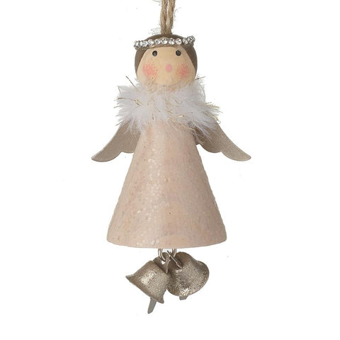 Wooden Angel With Bells