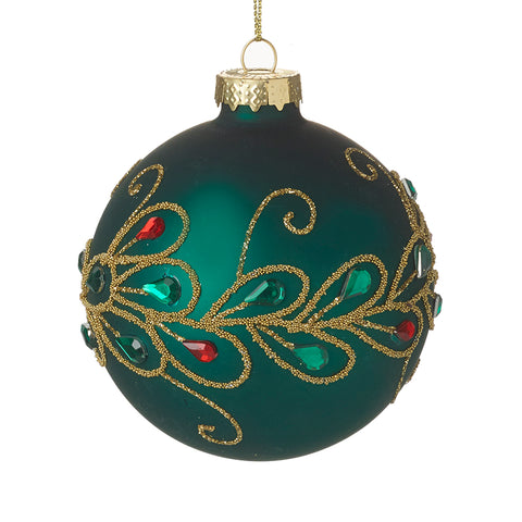Green and Gold Decorated Bauble