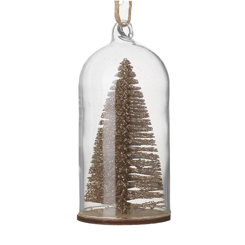 Glass Hanging Dome With Tree Inside