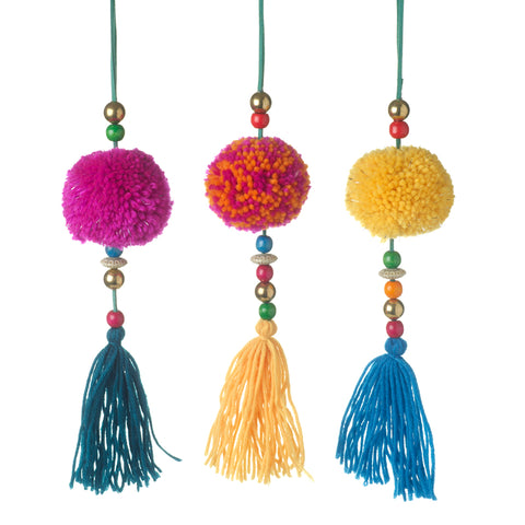 Pom Pom Tassle Hanging Decoration Mix