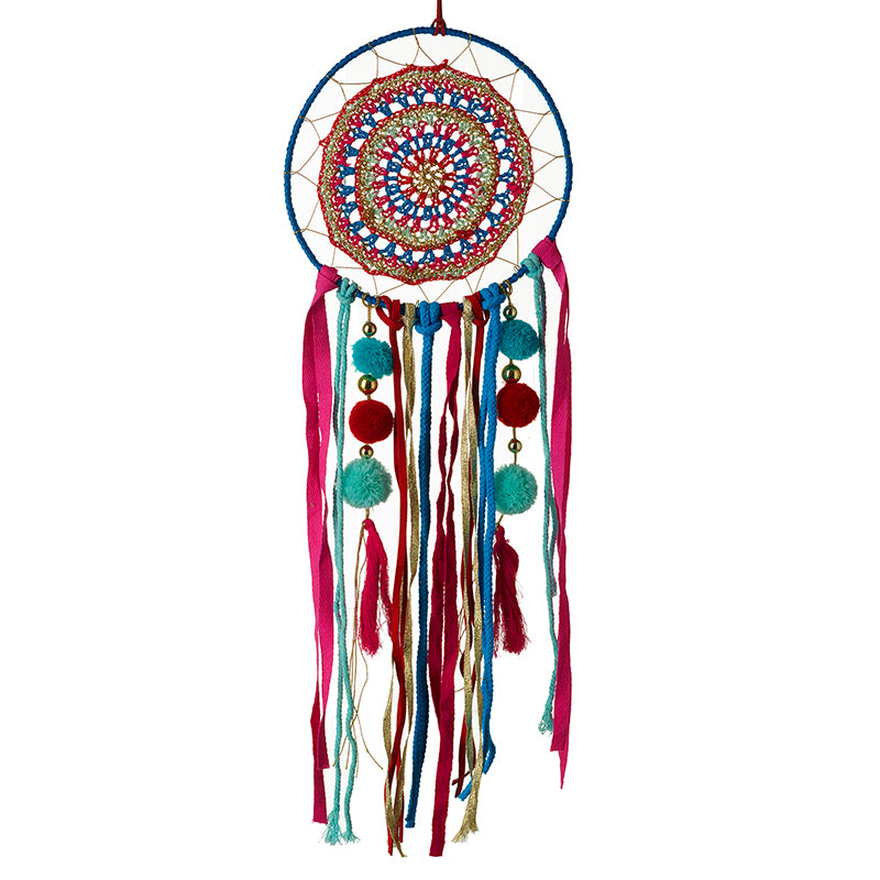 Large Pom Pom Dream Catcher