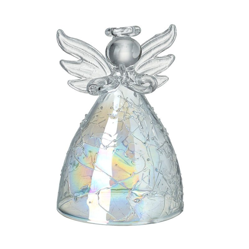 Glass Angel with Opalescent Detail