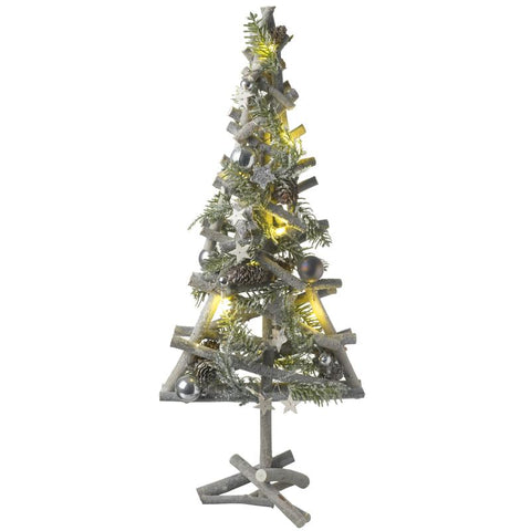 Silver Woodland Light Up Tree