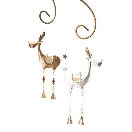 Metal Hanging Reindeer Mix